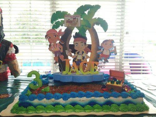 Amazing Jake And The Neverland Pirates Birthday Cake Topper Jake E Os Funny Birthday Cards Online Elaedamsfinfo