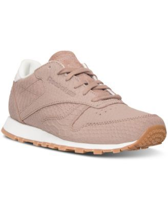 reebok women's classic leather clean exotics casual