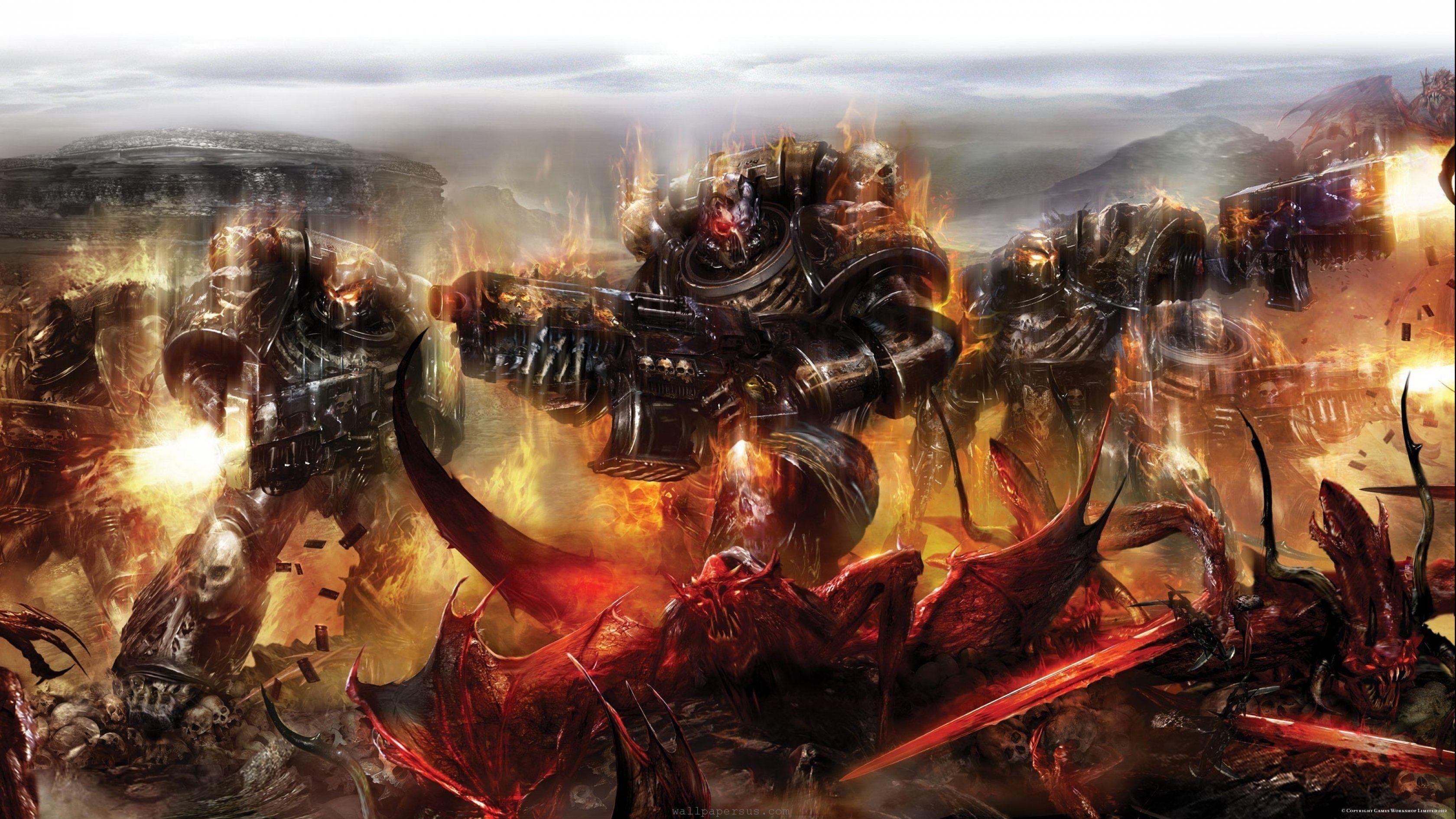 Wh40k Legion Of The Damned Wallpapers Warhammer Warhammer 40k Warhammer Art