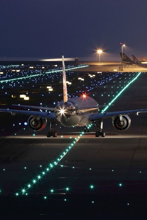 Night Flight Airplane Photography Aviation Airplane