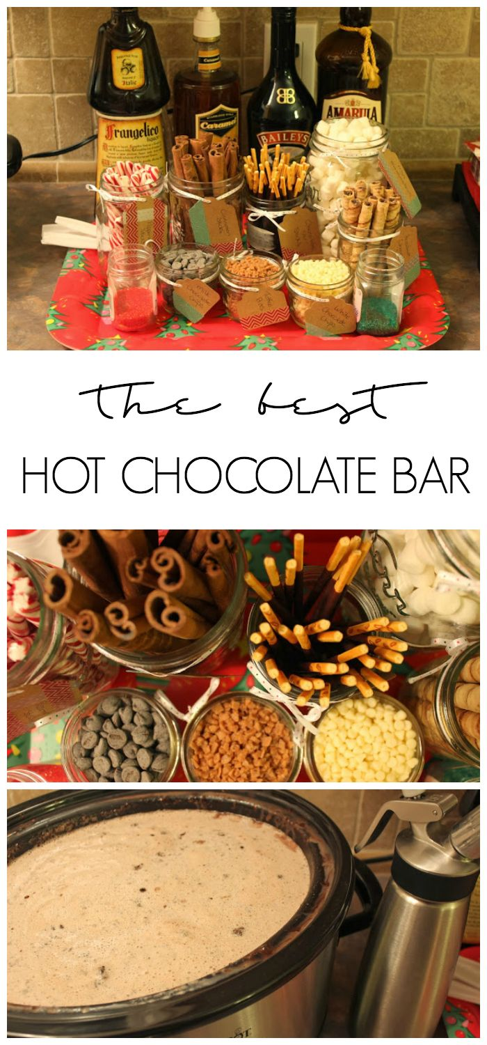 Hot Chocolate Bar with Toppings #hotchocolatebar