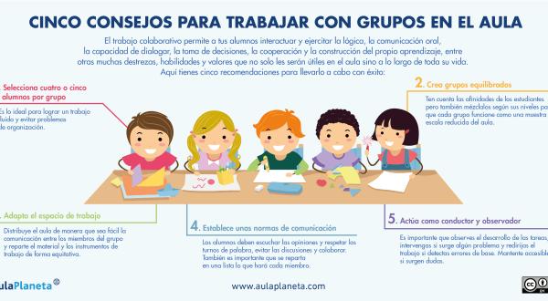 Cinco consejos para trabajar en cooperativo en nuestras aulas