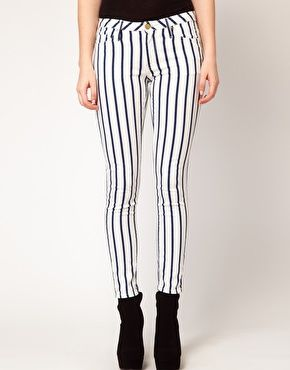 Black and White Skinny Pants by MANGO  31bec68fe