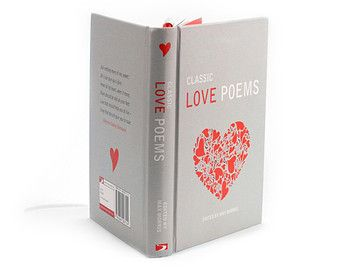 Love Poems Engagement Ring Holder Hollow Book Box Circle Cut Ribbons