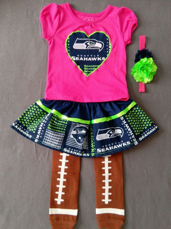19664868 FREE SHIPPING!!! Seattle Seahawks inspired baby girl 4 piece outfit ...