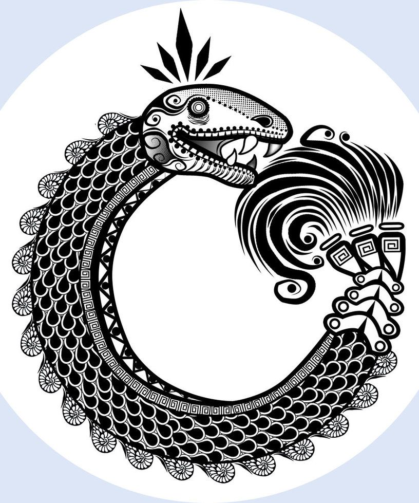 quetzatcoalt ouroborosseven segmented aztec ouroboros the serpent god quetzalcoatl is. Black Bedroom Furniture Sets. Home Design Ideas