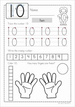 Number Concepts 1 20 Worksheets Numbers Preschool Kindergarten