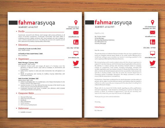 Modern Microsoft Word Resume And Cover Letter By Inkpower On Etsy