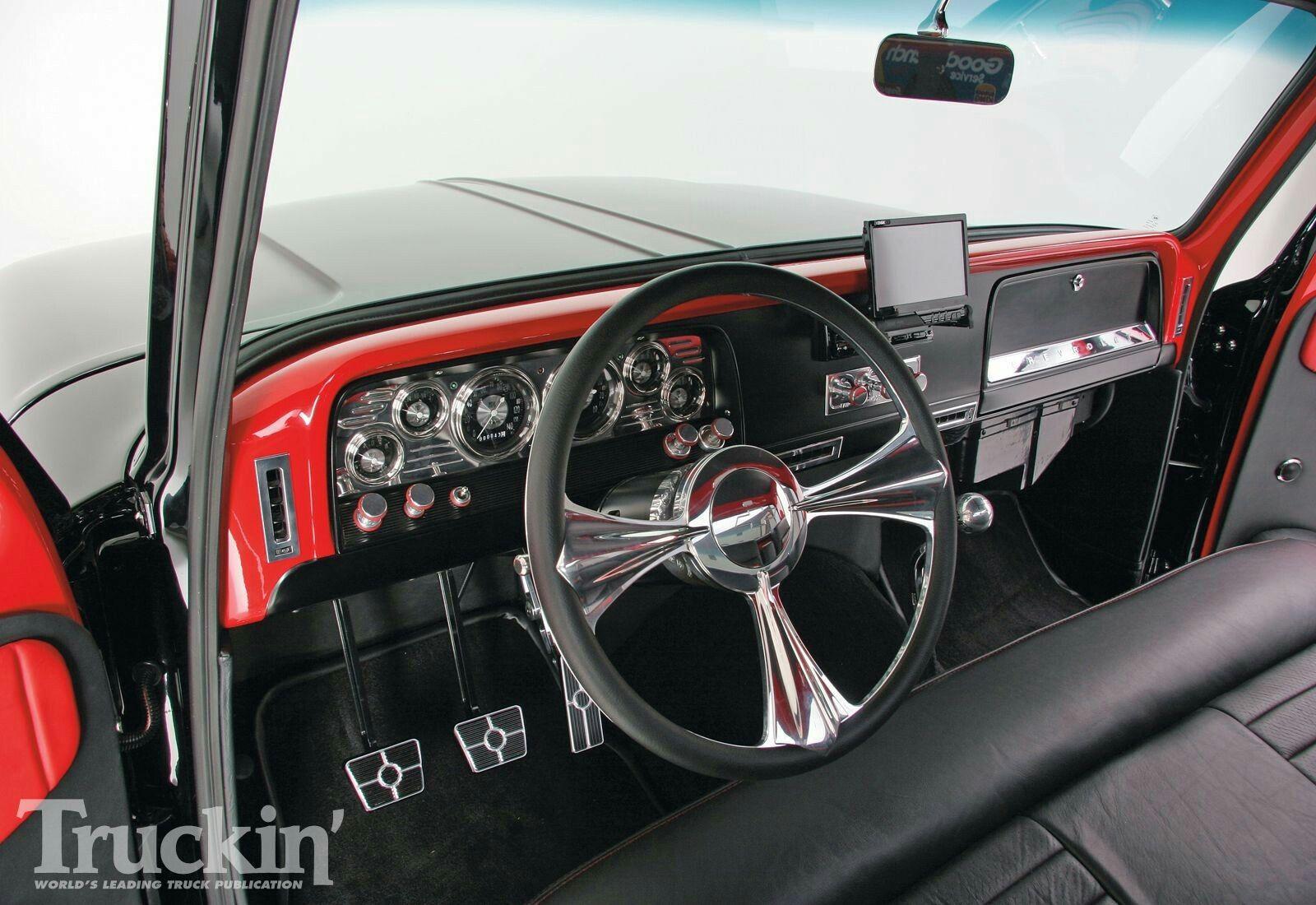 Pickup chevrolet chevy trucks classic trucks interior magazines black ideas html driveways