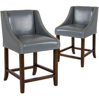 Swell Gracewood Hollow Choto Walnut Counter Height Stool Set Of 2 Short Links Chair Design For Home Short Linksinfo