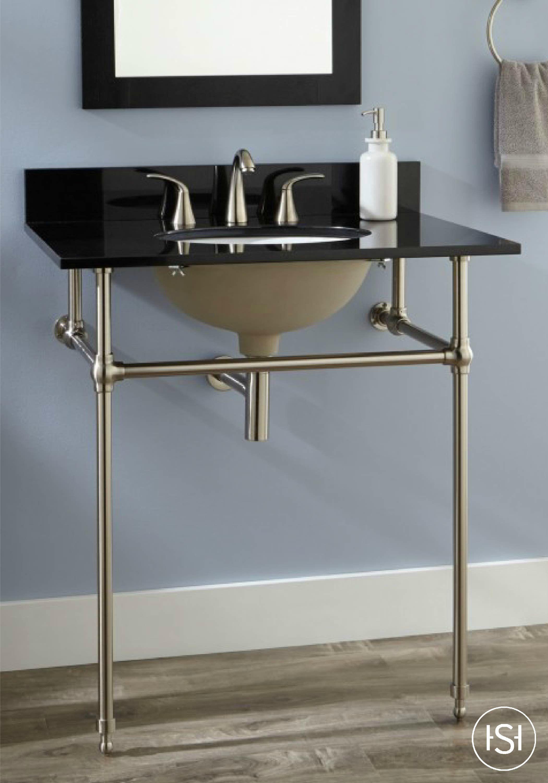 30 art deco undermount console sink guest bath