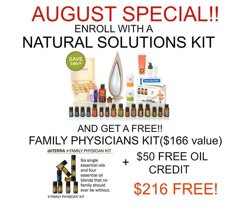 Join my #dōTERRA team this month with a Natural Solutions Enrollment