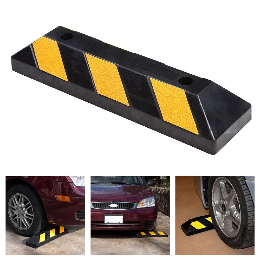 Garage Parking Stop >> 22 Rubber Curb Parking Block Wheel Stop Garage Car Stopper In 2019