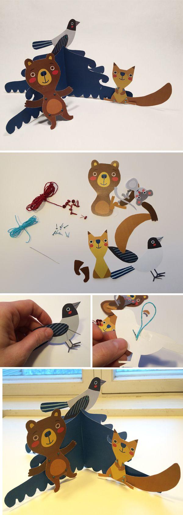Pikku Kakkosen joulun metsäneläimet paperihahmoina. Free printable patterns. lasten | askartelu | joulu | käsityöt | koti | sisustus | leikki | DIY ideas | kid crafts | christmas | home | decor | Pikku Kakkonen