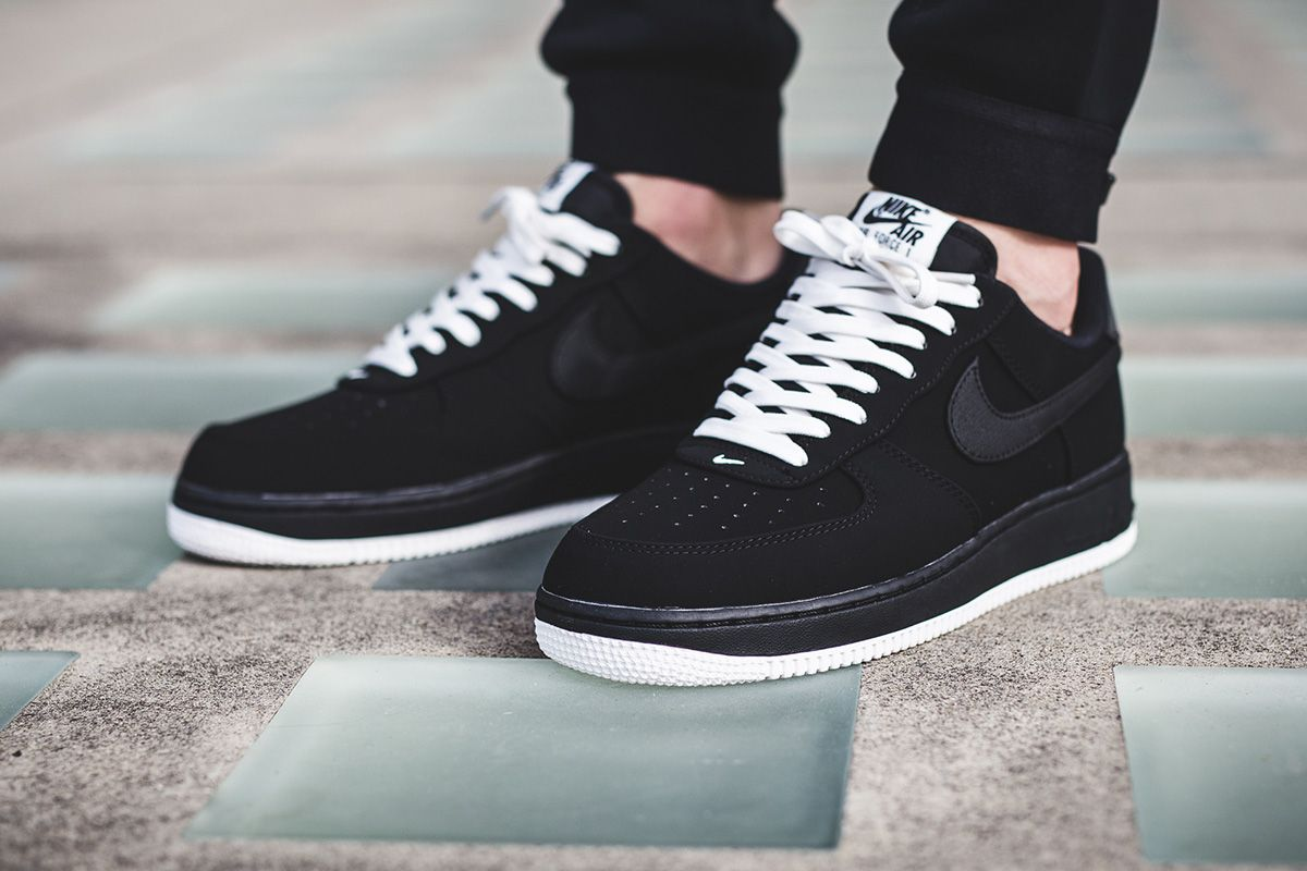 nike air force 1 low black suede white over the knee