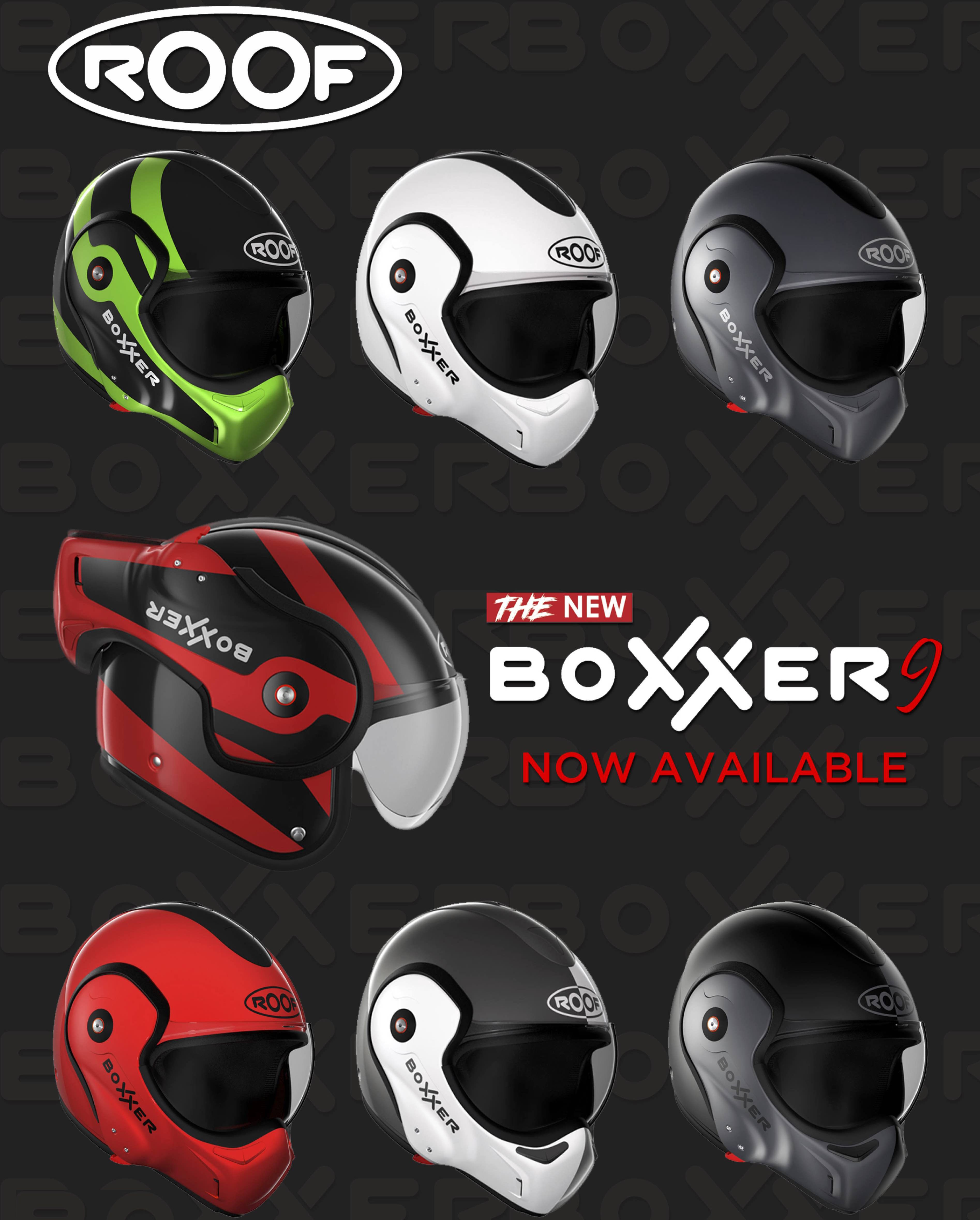 Roof Boxxer 9 Now Available Call For More Info 020 7272 5252 Roof Boxxer Motorcycle Helmet Motorcycles Helmets Scooter Helmet Helmet Motorbike Helmet
