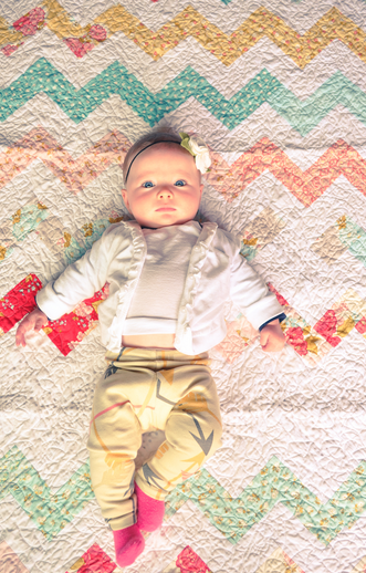 My favorite little chevron quilt... The Early Girl at Etsy shop