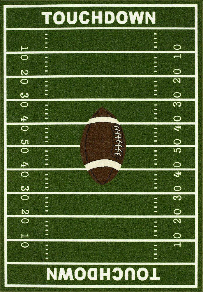 8 X 10 Kids Sports Football Field Area Rug Actual Size 6 7 X 9 2