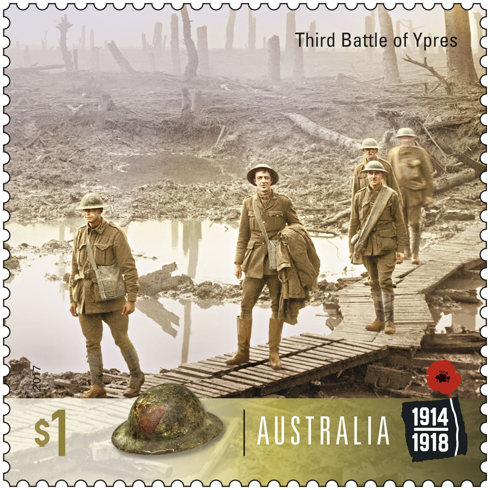 Stamp Issues Stamp, Australian fauna, Battle of ypres
