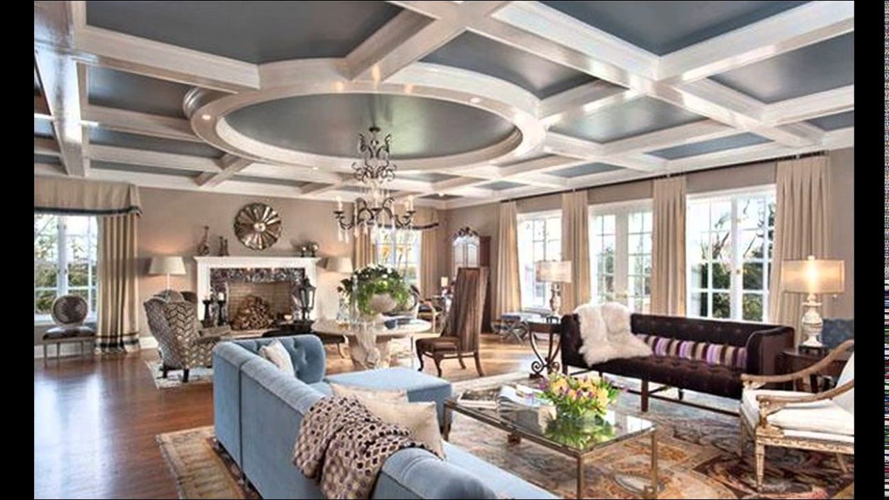 15 Living Rooms With Coffered Ceiling Des