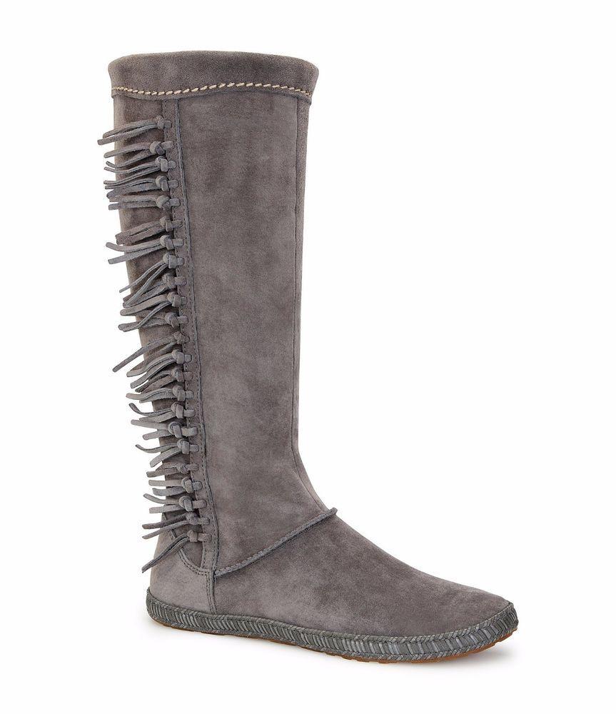 NIB UGG® Women's Mammoth Fringe Tall Boots Charcoal 1008812 size 9.5  #UGGAustralia #Boots