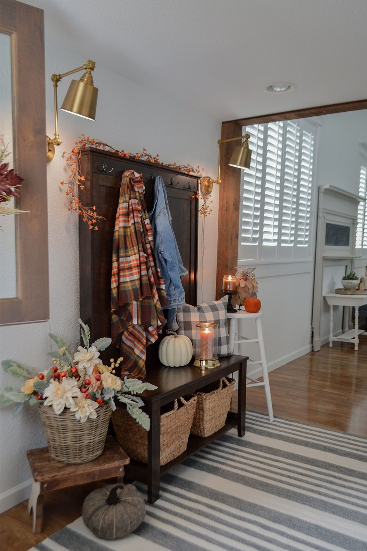 Home Fall entryway, Walmart home decor, Home