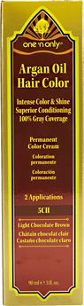 One N Only Argan Oil Hair Color 5ch Light Chocolate Brown Argan Oil Hair Color Hair Color Cream Argan Oil Hair