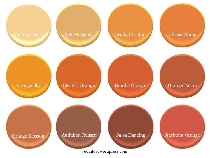 The Best Orange Paint Colors