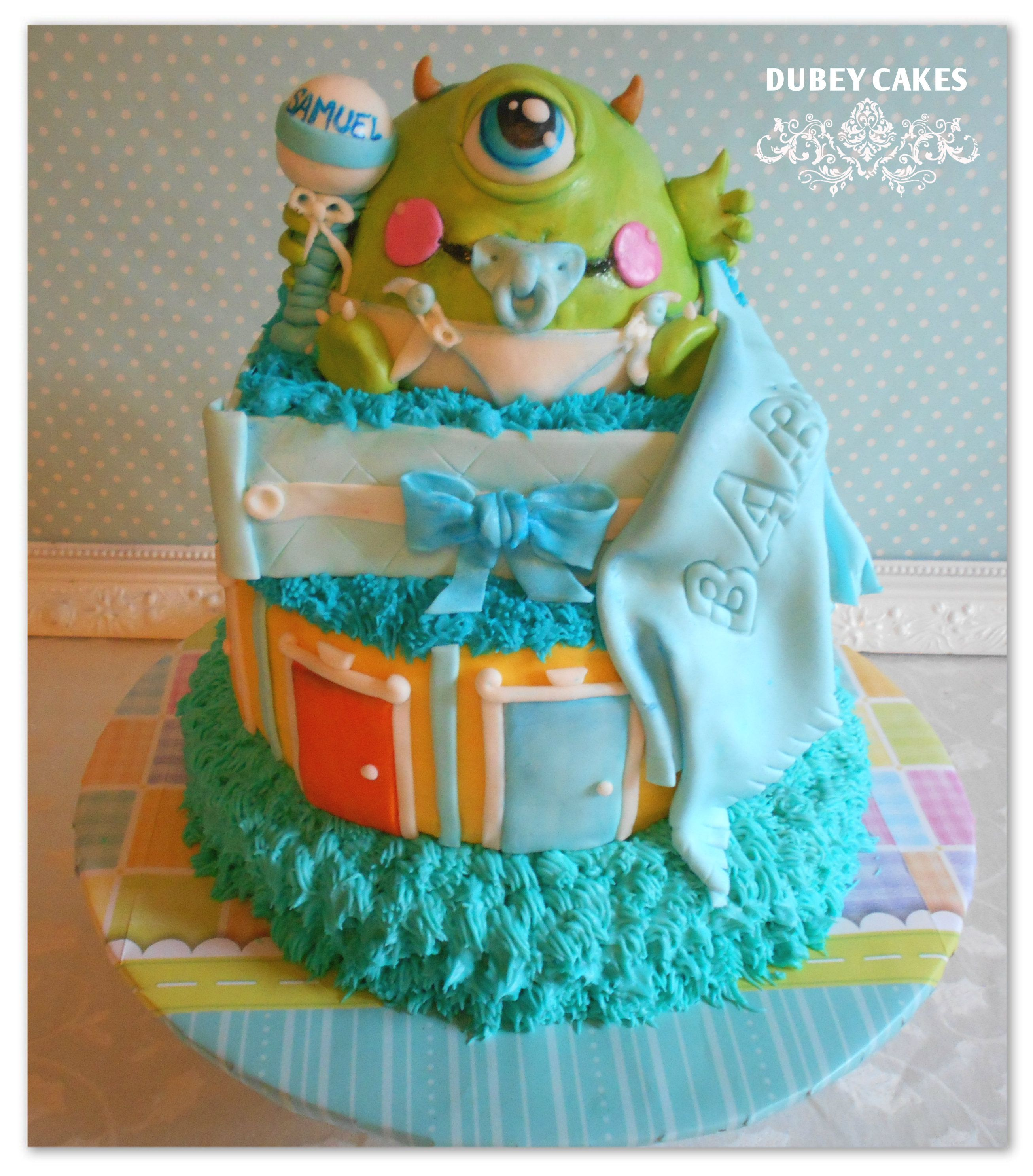 Nice Monster Inc Baby Shower Cake