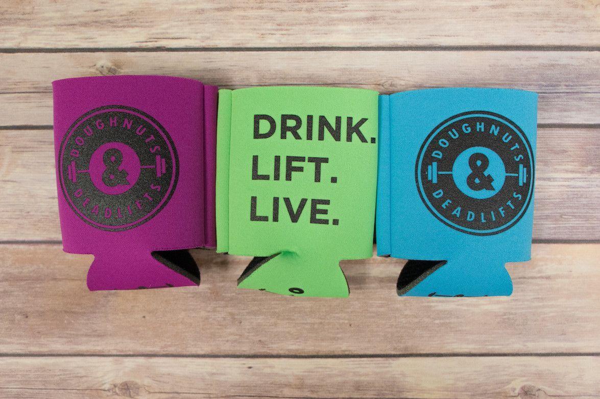 DRINK LIFT LIVE Koozie 3-Pak