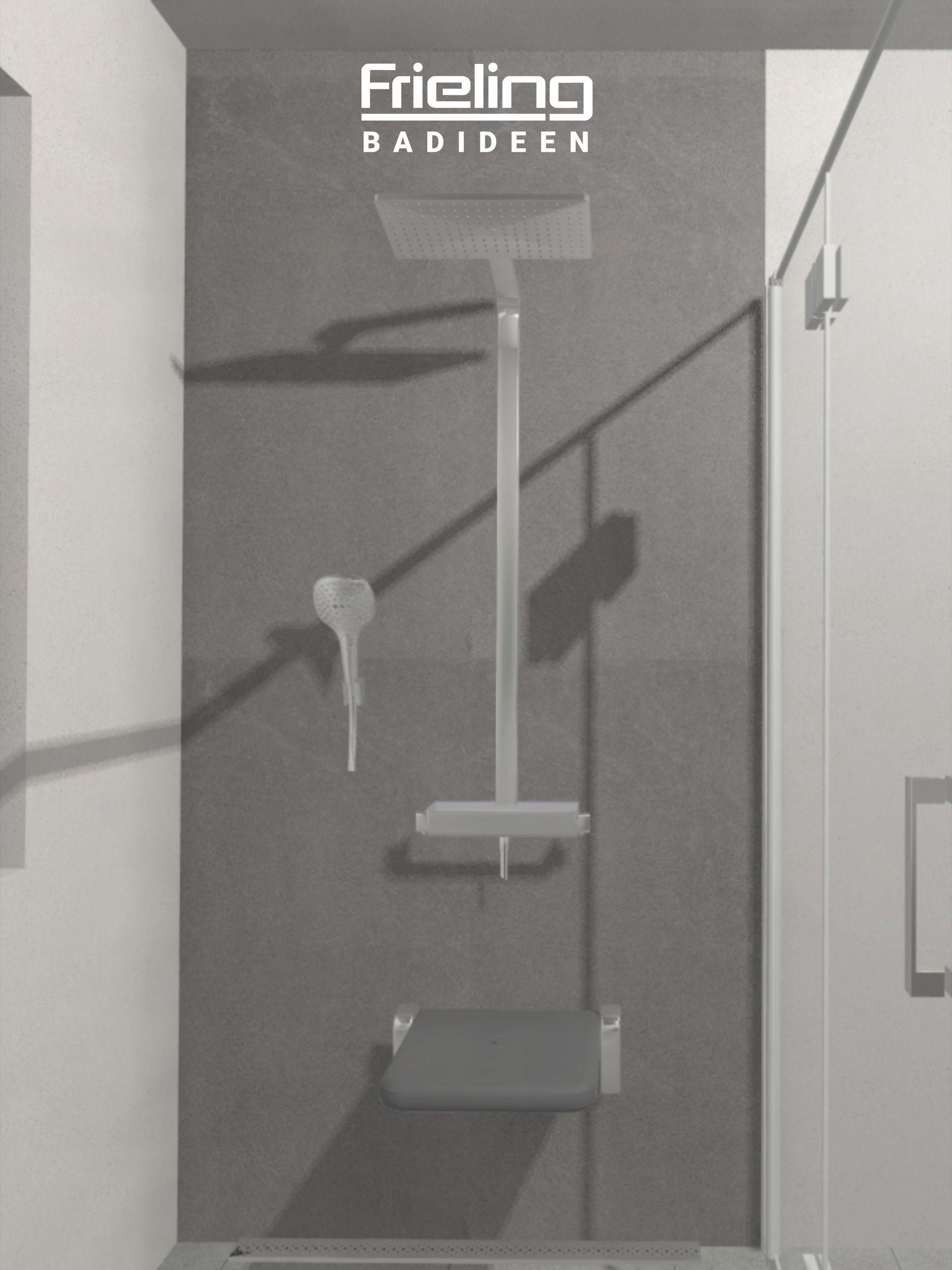 Das Barrierefreie Bad Mit Duschklappsitz Ansicht Dusche In 2020 Barrierefrei Bad Bad Ebenerdige Dusche