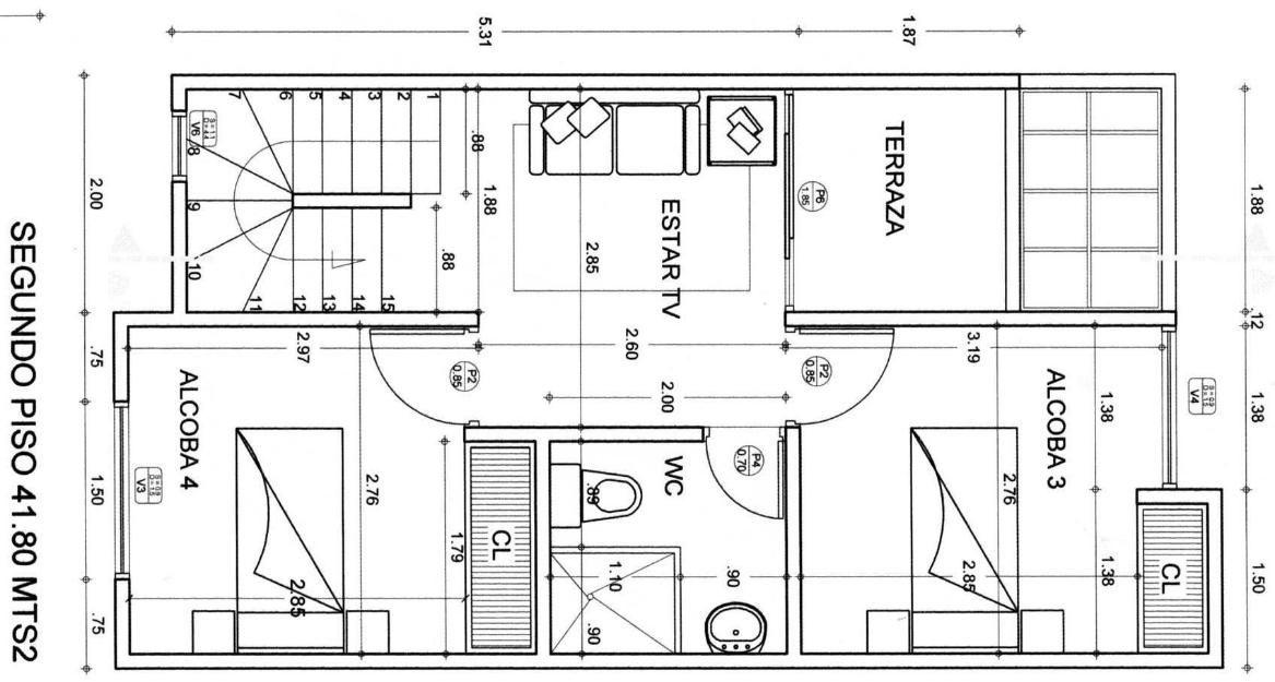 Autocad planos 2d 3d nivel basico intermedio avanzado for Casas en 2d
