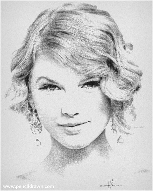 25 Amazing Taylor Swift Drawings   Dibujo