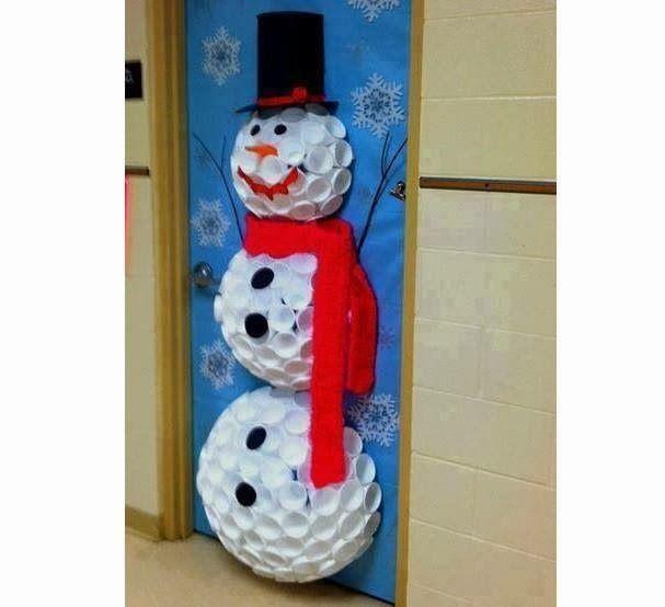 El arte de educar ideas para decorar la puerta del aula for Decoracion navidena infantil