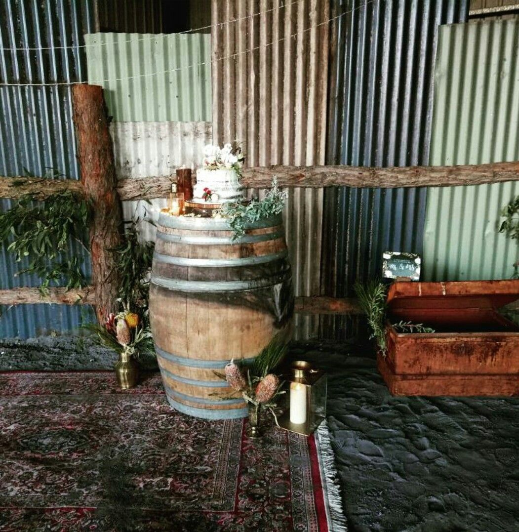 Yard wedding decoration ideas  wine barrel wedding decorations naked wedding cake rustic backyard