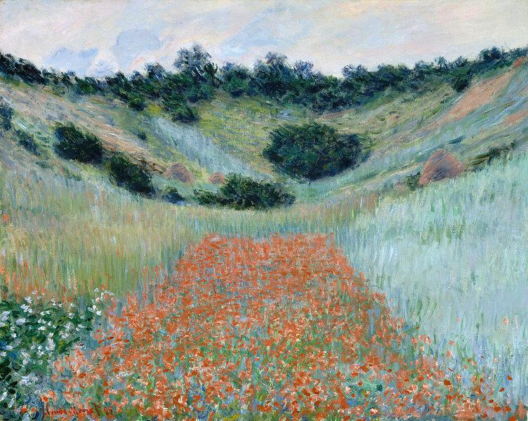 Kunstwerk Klaproosveld In Een Dal Bij Giverny Claude Monet Van Meesterlijcke Meesters Products In 2019 Monet Paintings Claude Monet Monet