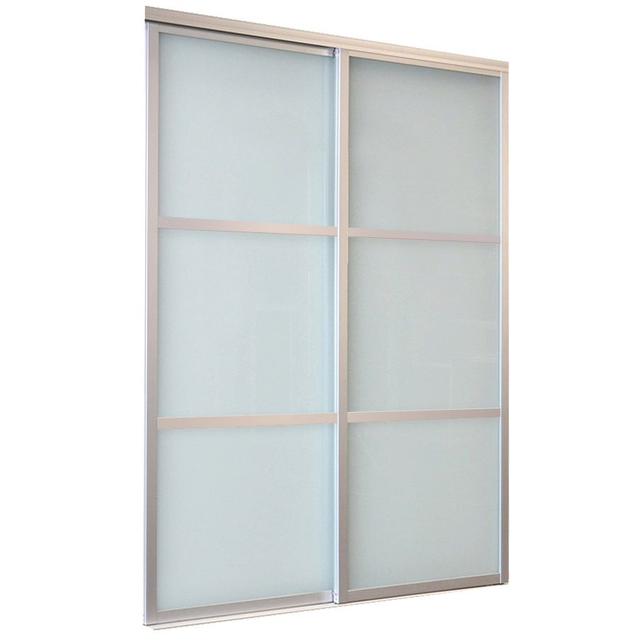 Reliabilt White 3 Lite Laminated Glass Sliding Closet Interior Door Common 48