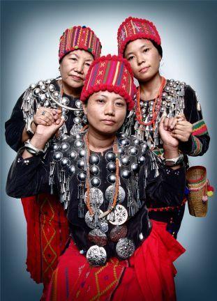 Shirley Seng, Mary Labang, & Nan Pyung, members of the Kachin Womens Association Thailand of Chiang Mai