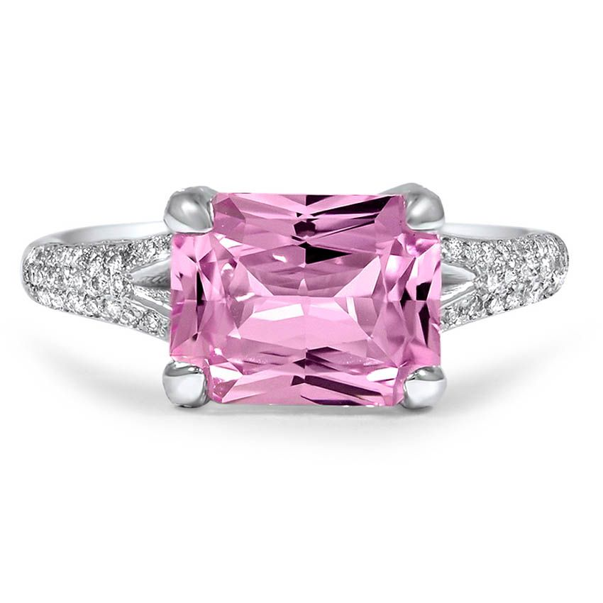 http://rubies.work/0331-sapphire-ring/ Radiant Cut Pink Sapphire Ring from Brilliant Earth