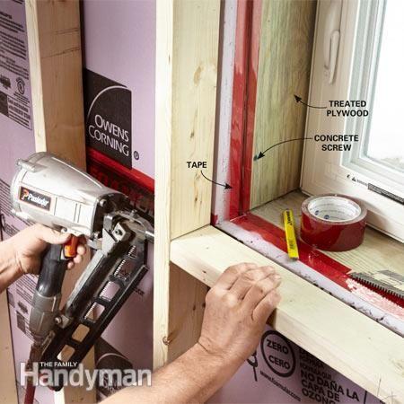 Framing Around Basement Window Use Treated Wood And