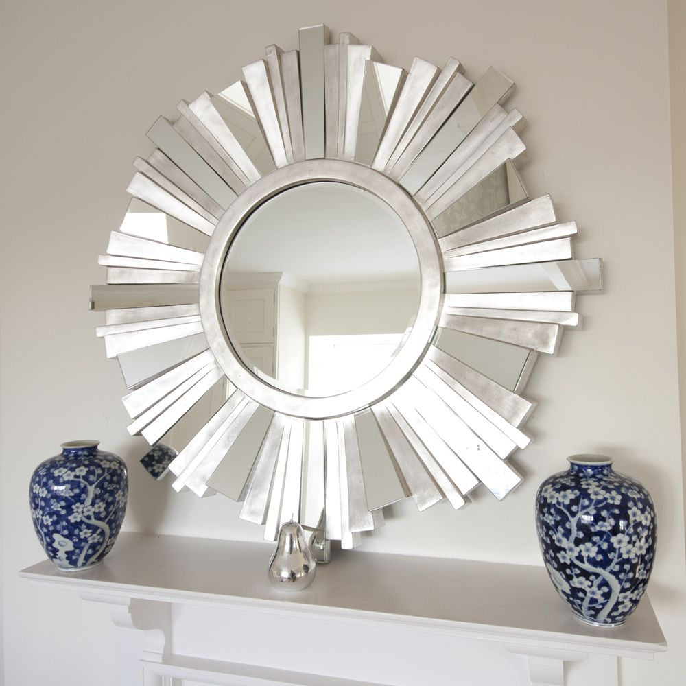 Striking Silver Contemporary Mirror Best Ideas Pinterest - Designer mirrors for living rooms