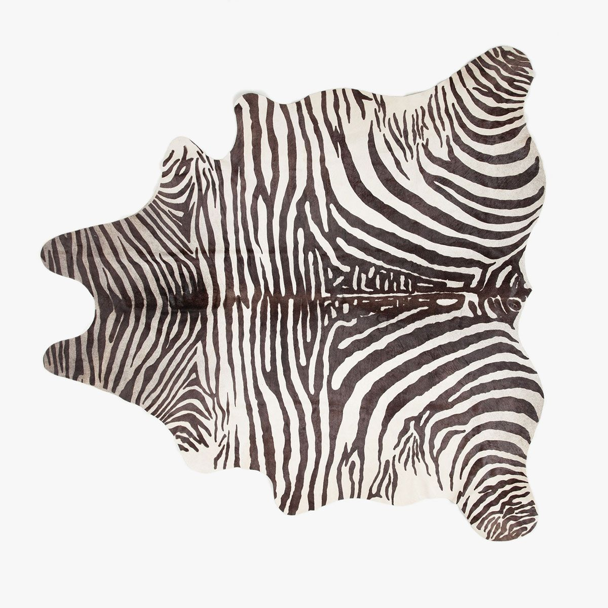 Image 1 Of The Product ZEBRA-PRINT LEATHER RUG