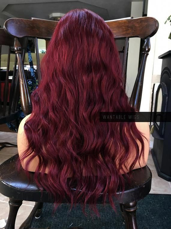 Photo of Your place to buy and sell all things handmade,Red Wig // Heat SAFE Wine Red Skin Top Part FU…