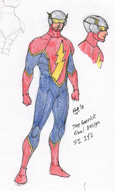 Secret Identity Jay Garrickthe Flash Design By Kyomusha Comics