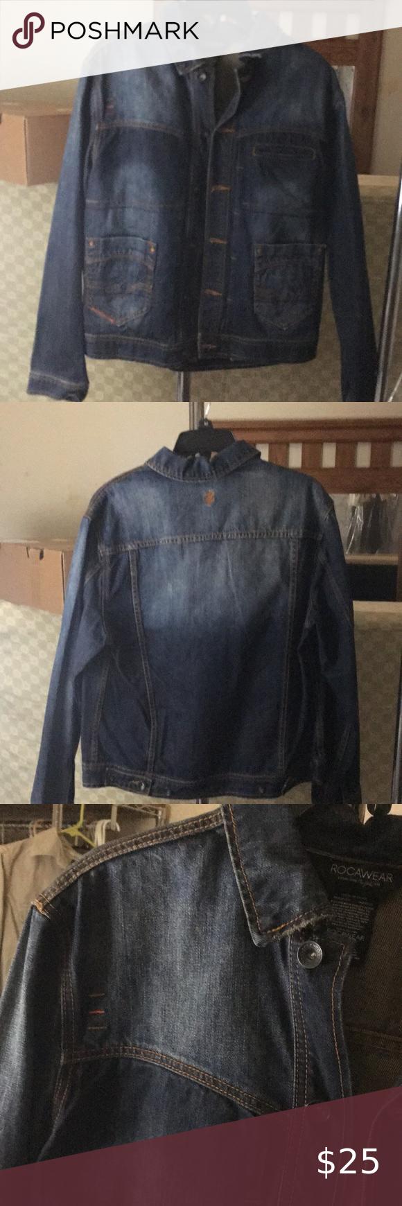 Rocawear Denim Jacket Faded Denim Jacket With Modern Day Retro Western Stitching Only Wore Once In Excellen Denim Coat Jacket Denim Jacket Faded Denim Jackets [ 1740 x 580 Pixel ]