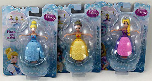 For Stella: Disney Petal Float Princess Set of 3 - Rapunzel, Cinderella & Belle Disney