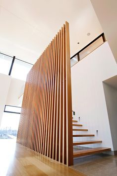 Best Floor To Ceiling Wood Screen Google Search Interior In 2019 House Stairs Staircase 400 x 300