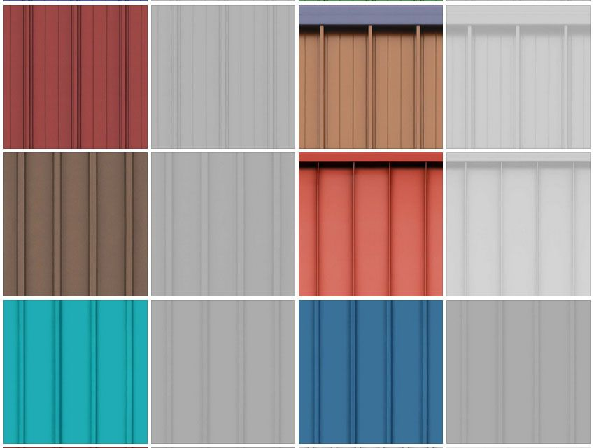 Sketchup - Seamless Metal Roofing Textures | metal roof in