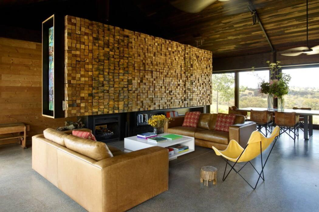 Modern wooden house located in elphinstone australia designed by wolveridge architects