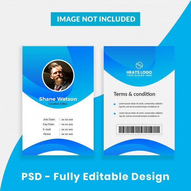 Creative Company Id Card Template Premium Psd Premium Psd Freepik Psd Card Template Tag Office Id Card Template Company Id Creative Company